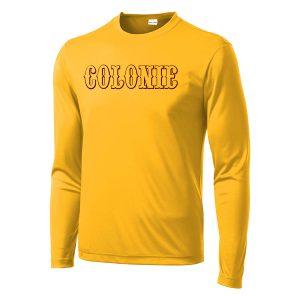 Colonie AllStars Long Sleeve DriFit Shirt Gold