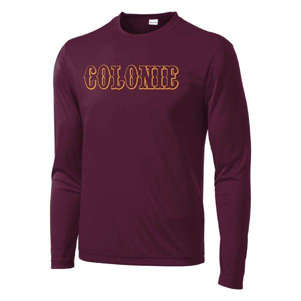 Colonie AllStars Long Sleeve DriFit Shirt Maroon