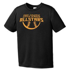 2021 AllStars Youth Short Sleeve DriFit Shirt Black