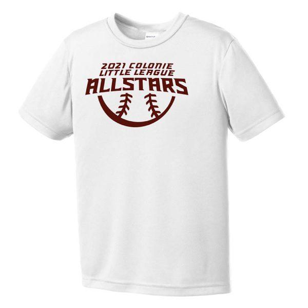2021 AllStars Youth Short Sleeve DriFit Shirt White