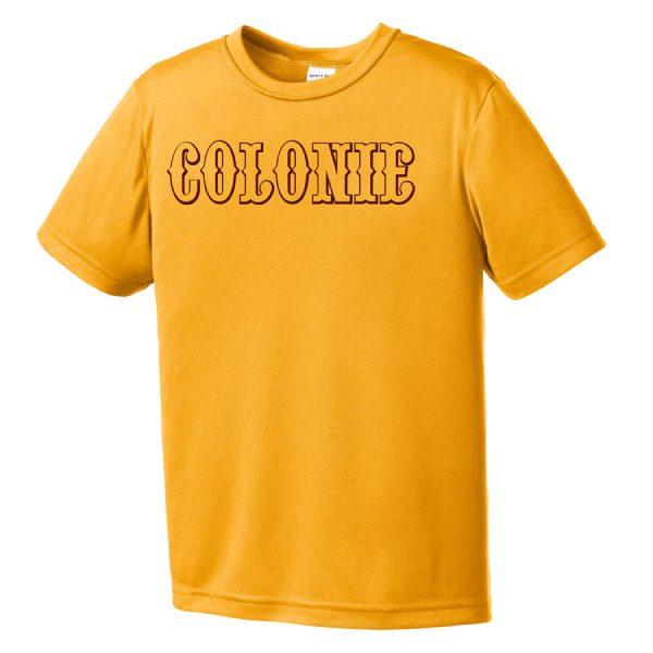 Colonie AllStars Youth Short Sleeve DriFit Shirt Gold