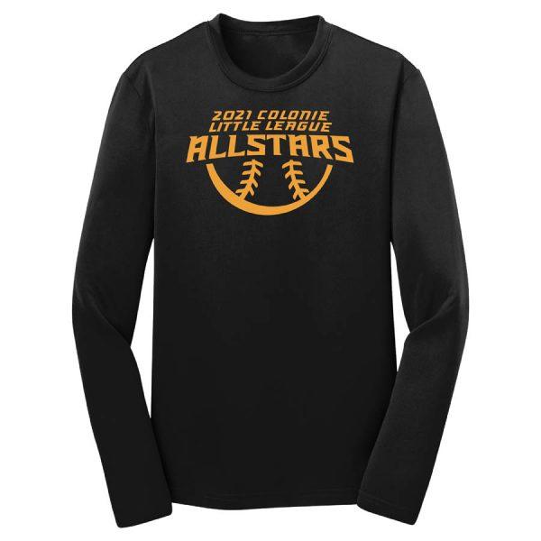 2021 AllStars Youth Long Sleeve DriFit Shirt Black
