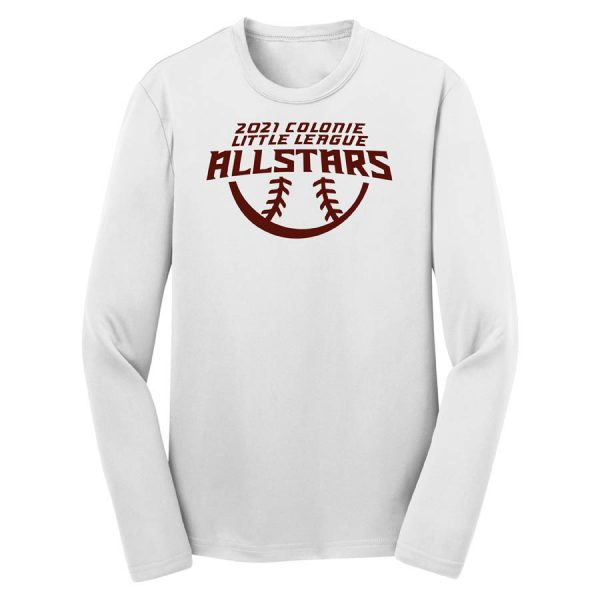 2021 AllStars Youth Long Sleeve DriFit Shirt White