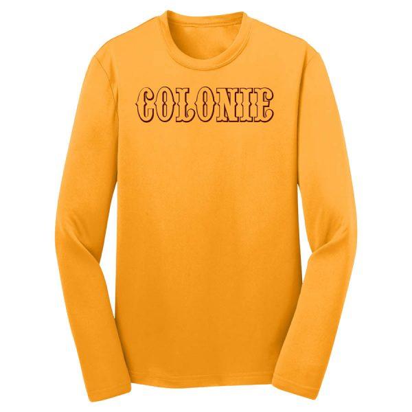 Colonie AllStars Youth Long Sleeve DriFit Shirt Gold