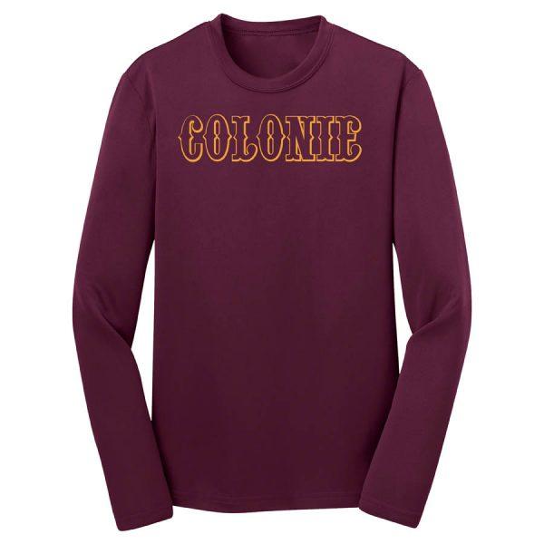 Colonie AllStars Youth Long Sleeve DriFit Shirt Maroon